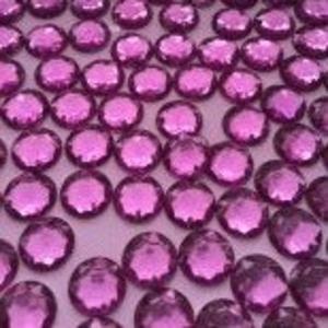 Розовые пришивные cтразы